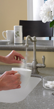 Hot water right from your faucet.  Great for Soups, Tea, and Hot Chocolate!